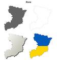 Rivne blank outline map set vector image vector image