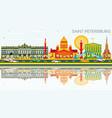 saint petersburg skyline with color buildings vector image vector image