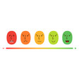 satisfaction rating set of feedback icons in form vector image vector image