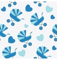 Seamless baby carriages pattern background vector image