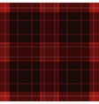 seamless red black tartan with white stripes vector image vector image