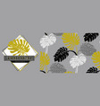 set elements such as a print silhouettes of vector image vector image