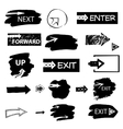 Set of handdrawn arrows and spots on white vector image vector image