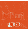 Slovakia landmarks Retro styled image vector image vector image