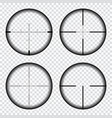 sniper scope crosshairs view sniper rifle aim vector image vector image