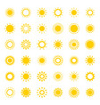 sun with ray of light geometric icon vector image vector image
