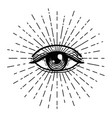 tattoo flash eye providence masonic symbol vector image
