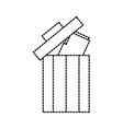 trash can folder file information delete web vector image