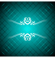 turquoise luxury background vector image vector image