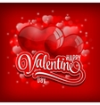 Valentines day background with flying bubbles vector image vector image