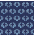 vintage seamless wallpaper blue vector image vector image