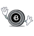 waving bytecoin coin character cartoon vector image vector image