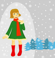 winter girl vector image vector image