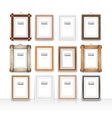 Wooden Rectangle Frames Set vector image vector image