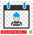 Worker Calendar Day Eps Icon vector image vector image