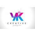 yk y k letter logo with shattered broken blue vector image vector image