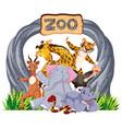 zoo animals at entrance sign vector image vector image