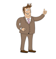 business man character isolated on white vector image