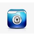 Locked folder icon folder protection concept vector image