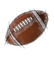 American Football isolated on a white background vector image
