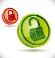 Lock 3d icon isolated on white background vector image