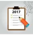 2017 target goals task list check new year vector image vector image