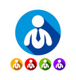 abstract business man flat graphic icon set design vector image