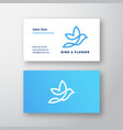 abstract flying bird and flower logo vector image