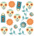 abstract sugar fantasy skulls seamless pattern it vector image