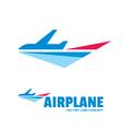 Airplane - logo concept vector image vector image
