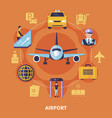 airport flat concept vector image vector image