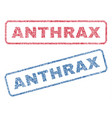 anthrax textile stamps vector image vector image