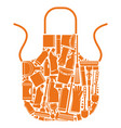 apron for cleaning vector image vector image