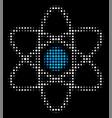 atom halftone icon vector image