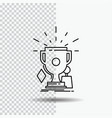 awards game sport trophies winner line icon on vector image
