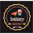 bakery always fresh 1987 back background im vector image vector image