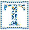 Blue letter T vector image vector image