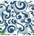 Blue Wave seamless on a white background vector image vector image