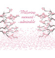 branches with pink flowers sakura in the period vector image vector image