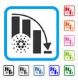 cardano epic fail chart framed icon vector image vector image