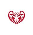 Cashmere Goat Head Retro vector image vector image