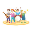 children playing music vector image