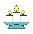 church candles color icon vector image