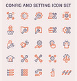 config setting icon vector image