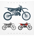 Cross motorcycle vector image