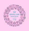 dental care banner vector image vector image