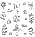 Doodle of spring flower hand draw vector image vector image
