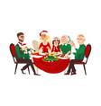 family celebrating christmas holiday vector image