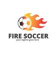 Fire Soccer Logo vector image vector image