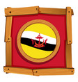 flag of brunei in round icon vector image vector image